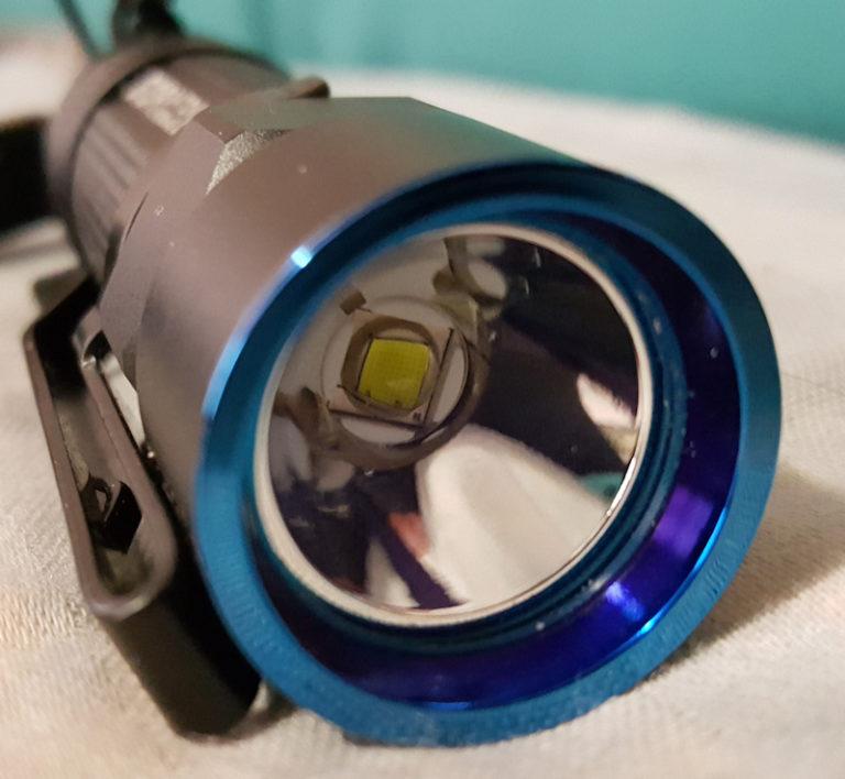 Olight S10R bezel shot